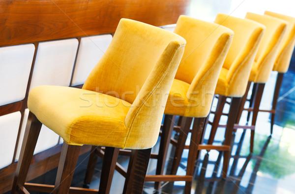 Meleg citromsárga bár gyönyörű átló csetepaté Stock fotó © SophieJames