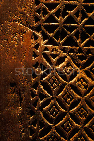 Anciens main porte design bois maison Photo stock © SophieJames