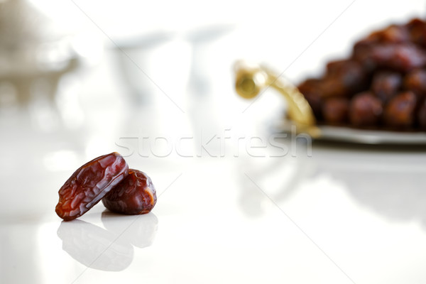 Dried dates and Arabic coffee Stock photo © SophieJames