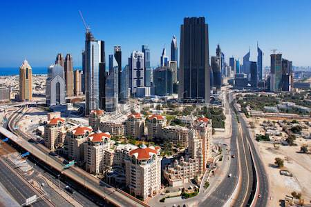 Dubai has become known as a playground for architects Stock photo © SophieJames