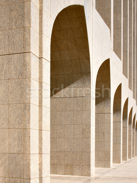 Beautiful arches are a frequent reminder of Arabian architecture Stock photo © SophieJames