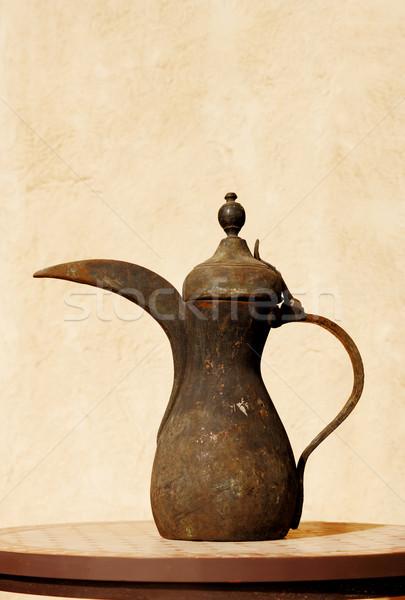 ősi arab tea edény büszke vendégszeretet Stock fotó © SophieJames