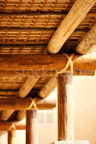 The roofs of ancient Arabia were secured without nails and bolts Stock photo © SophieJames
