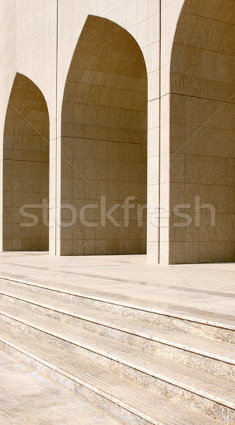 Light and shadow accentuates the beauty of these Arabic arches Stock photo © SophieJames