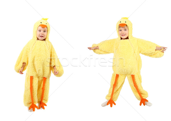 Little boy dressed up in a chicken costume Stock photo © soupstock
