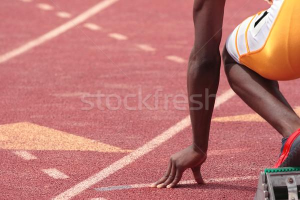 Kişisel en iyi izlemek alan yarış hat Stok fotoğraf © soupstock
