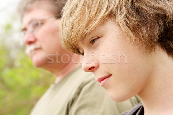 Profile of a father and son Stock photo © soupstock