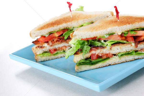 Bacon alface tomates sanduíche restaurante estilo Foto stock © soupstock