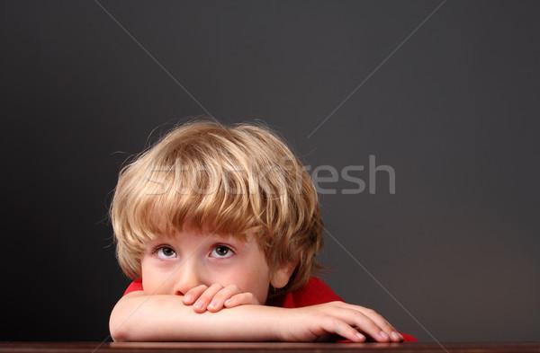 Boy thinking Stock photo © soupstock