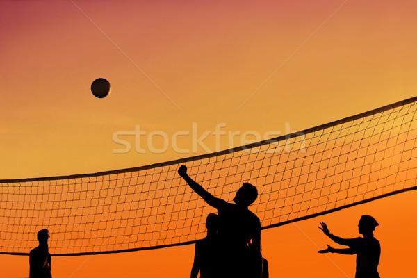Wygaśnięcia siatkówka siatkówka piłka gry Zdjęcia stock © soupstock