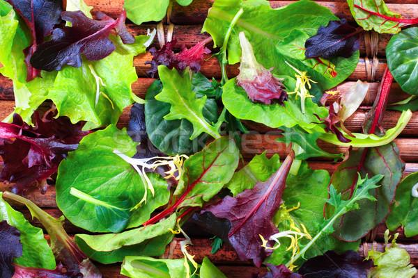 Organic Spring Mix Lettuce Stock photo © soupstock