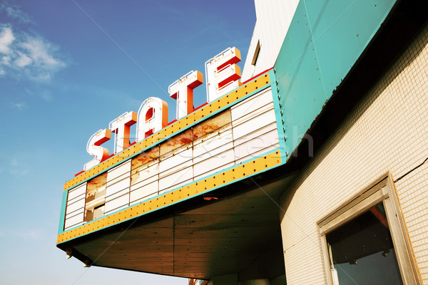 Abandonded Vintage Theater in the Midwestern United States Stock photo © soupstock
