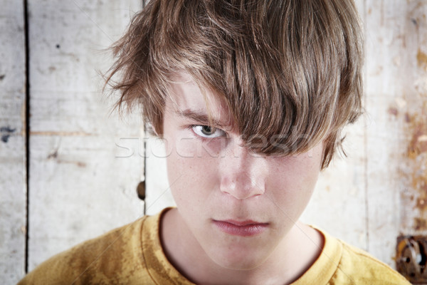Angry Teenage  Boy Stock photo © soupstock
