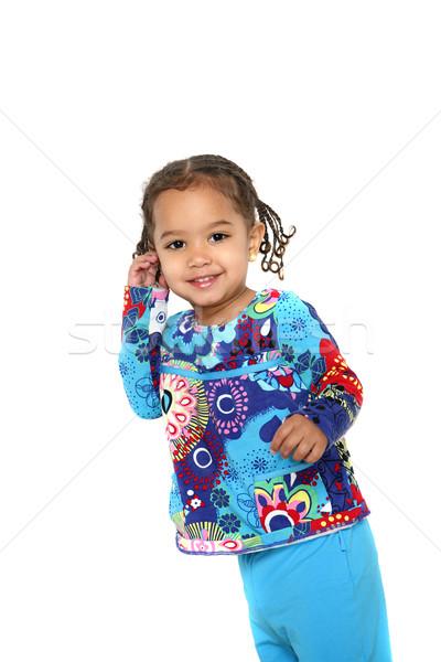 Smiling toddler girl Stock photo © soupstock