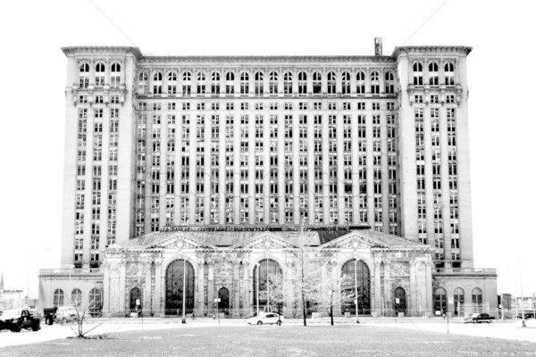 Michigan centraal station Detroit verlaten treinstation Stockfoto © soupstock