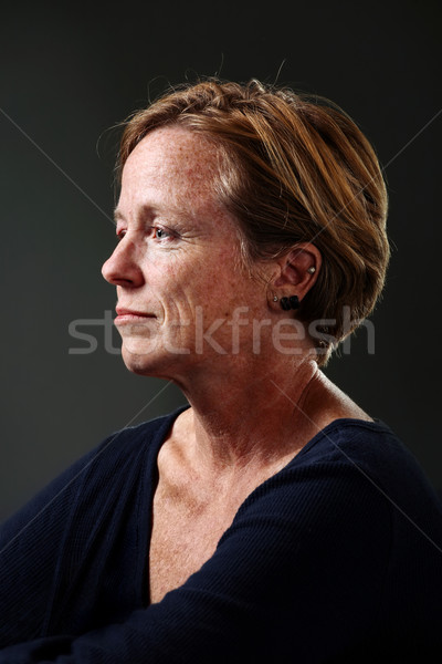 Portret vrouwen vrouw Rood Stockfoto © soupstock