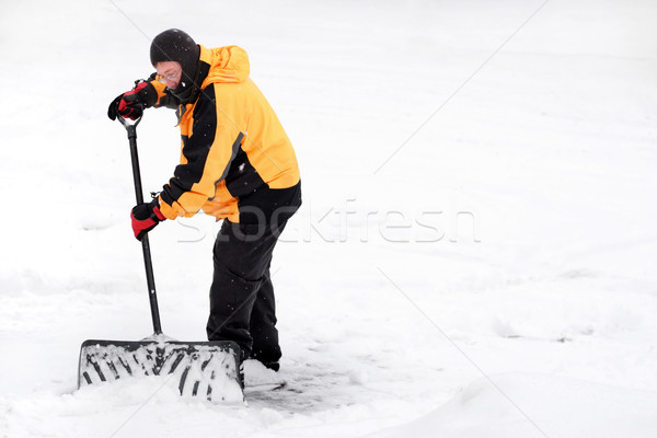 Man shoveling snow Stock photo © soupstock