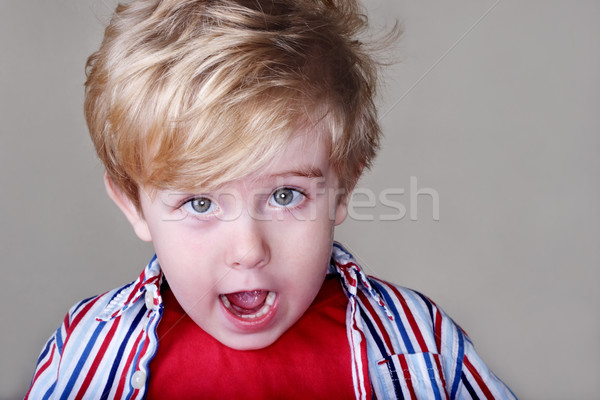 Young Surprised boy Stock photo © soupstock