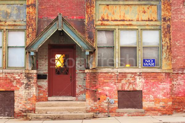 School gebouw geen oorlog Stockfoto © soupstock