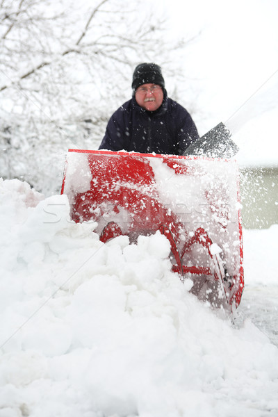 Man using a snowblower Stock photo © soupstock