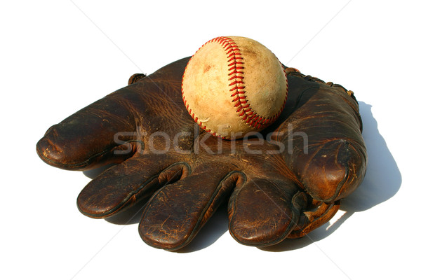 antique ball and glove Stock photo © soupstock