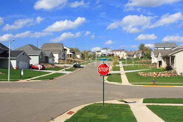 New Residential Homes in a Suburban Subdivision Stock photo © soupstock