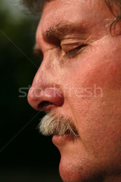 Meditazione faccia salute persona Foto d'archivio © soupstock