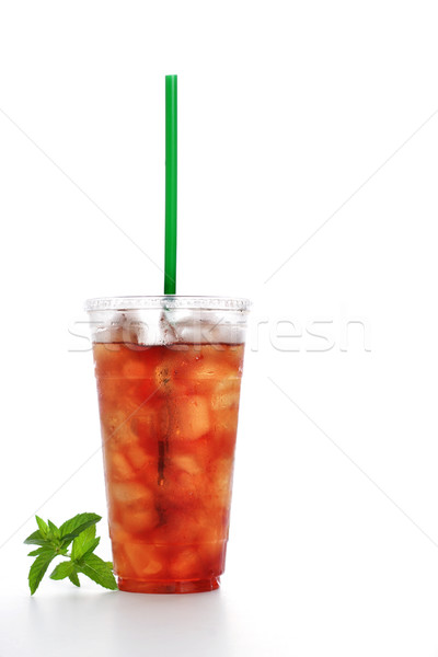 Gourmet to Go (a plastic cup of iced tea with a straw) Stock photo © soupstock