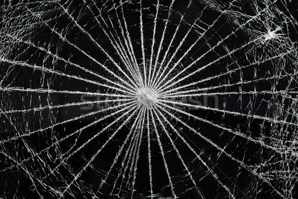 Gebroken glas venster textuur abstract glas Stockfoto © soupstock