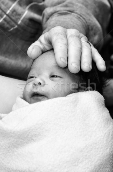 Newborn baby Stock photo © soupstock