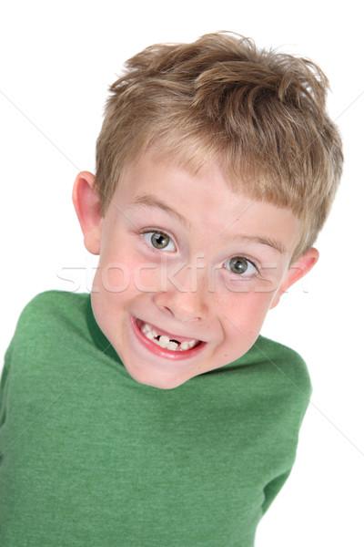 улыбаясь мальчика отсутствующий зубов ребенка Сток-фото © soupstock