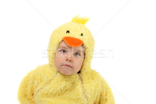 Pollo suit bambino uccello ragazzo Foto d'archivio © soupstock