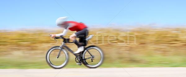 Racing fiets beweging platteland Stockfoto © soupstock