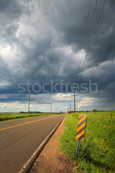 Country road after a storm Stock photo © soupstock
