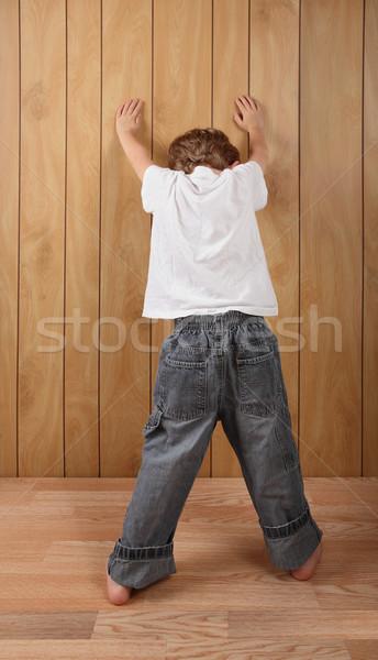 Lavoro mani muro posa bambino Foto d'archivio © soupstock