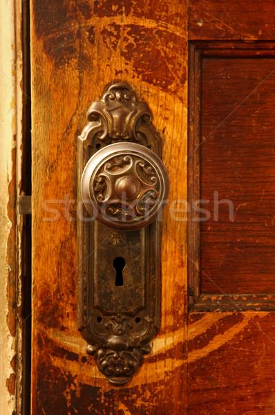 Vintage porta legno home Foto d'archivio © soupstock