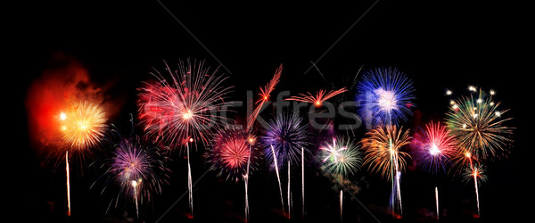 Fireworks background Stock photo © soupstock