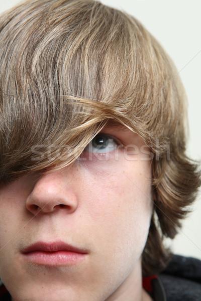 Poważny nastolatków twarz włosy Zdjęcia stock © soupstock