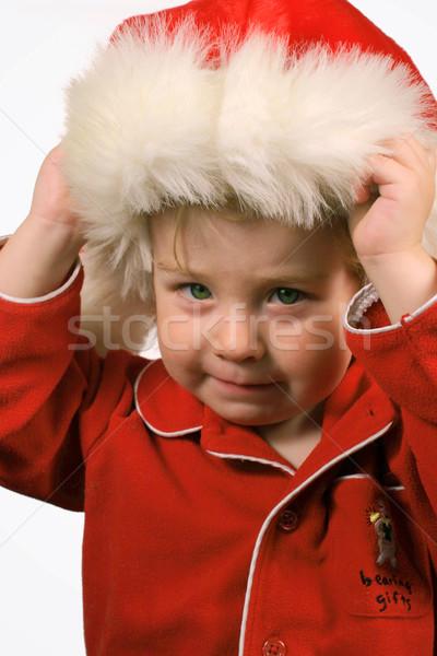 Helper Rood pyjama hoed Stockfoto © soupstock