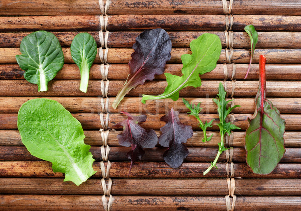 Variety of Baby Lettuce and Greens Stock photo © soupstock