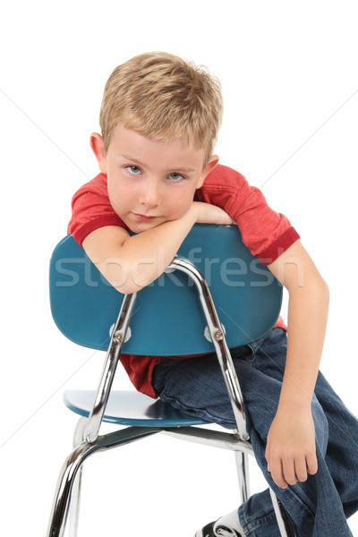 Entediado criança de volta escolas Foto stock © soupstock