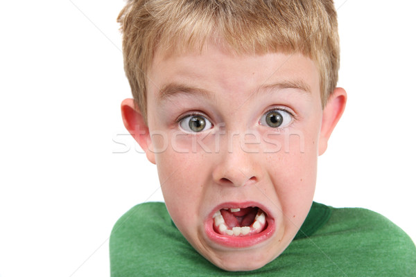 Young boy making a surprised face Stock photo © soupstock