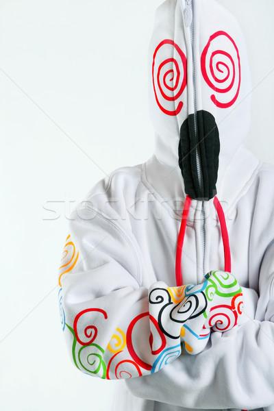 Completo adolescente indossare bianco Foto d'archivio © soupstock