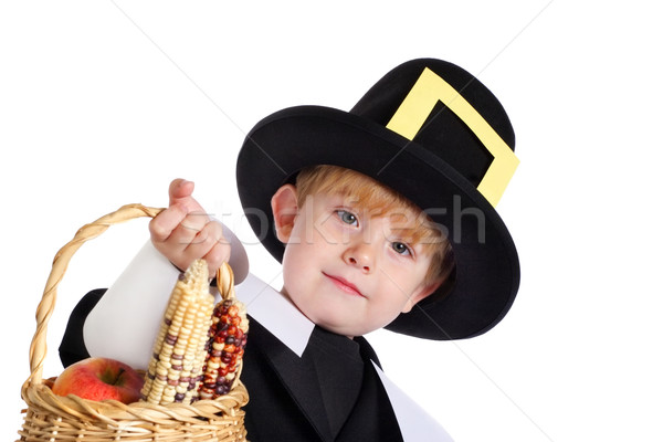 Pilgrim bearing gifts Stock photo © soupstock