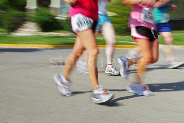 Stockfoto: Marathon · camera · lopers · benen