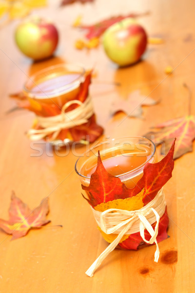 Decorated Glasses of Apple Cider Stock photo © soupstock