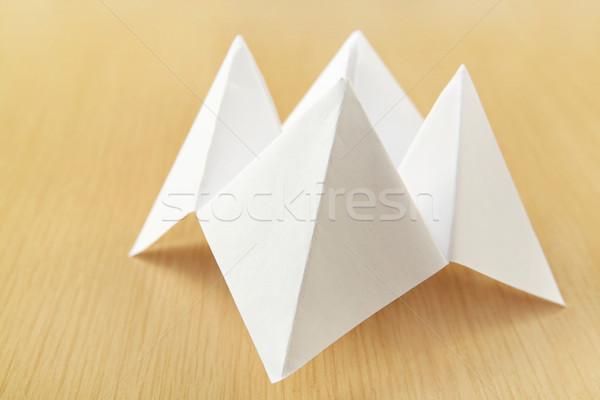 Kâğıt katlanmış parça biçim oyuncak Stok fotoğraf © soupstock