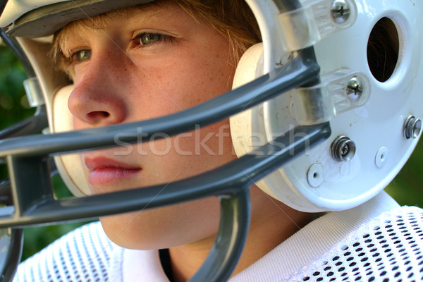 Jeu adolescent football casque enfants Photo stock © soupstock