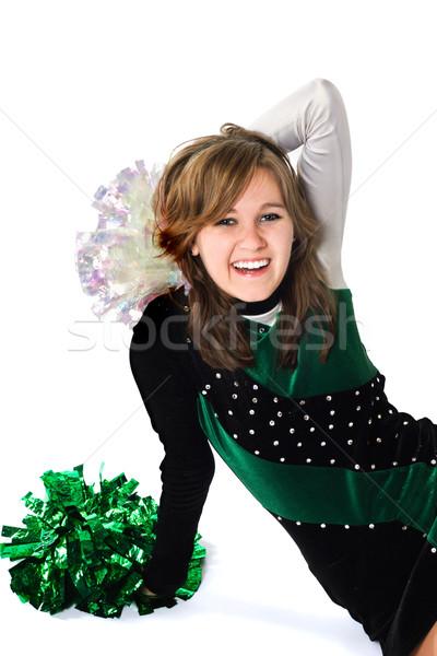 Happy Girl in a Pom Pon Uniform Stock photo © soupstock