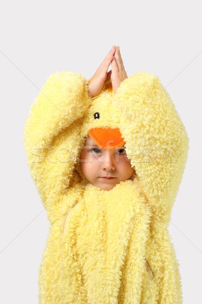 Baby pollo costume up Pasqua Foto d'archivio © soupstock